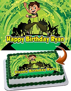 PartyPrint Edible Cake Image for Ben 10 Omniverse Theme Party Birthday Topper Personalized 1/4 Sheet