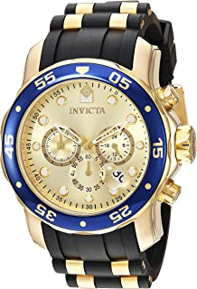 Invicta Men's 'Pro Diver' Quartz Gold-Tone and Stainless Steel Casual Watch, Color:Gold (Model: 17881)