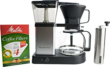 Redline MK1 8 Cup Coffee Brewer with Glass Carafe, Hot Plate and Pre-Infusion Mode (Bundle)