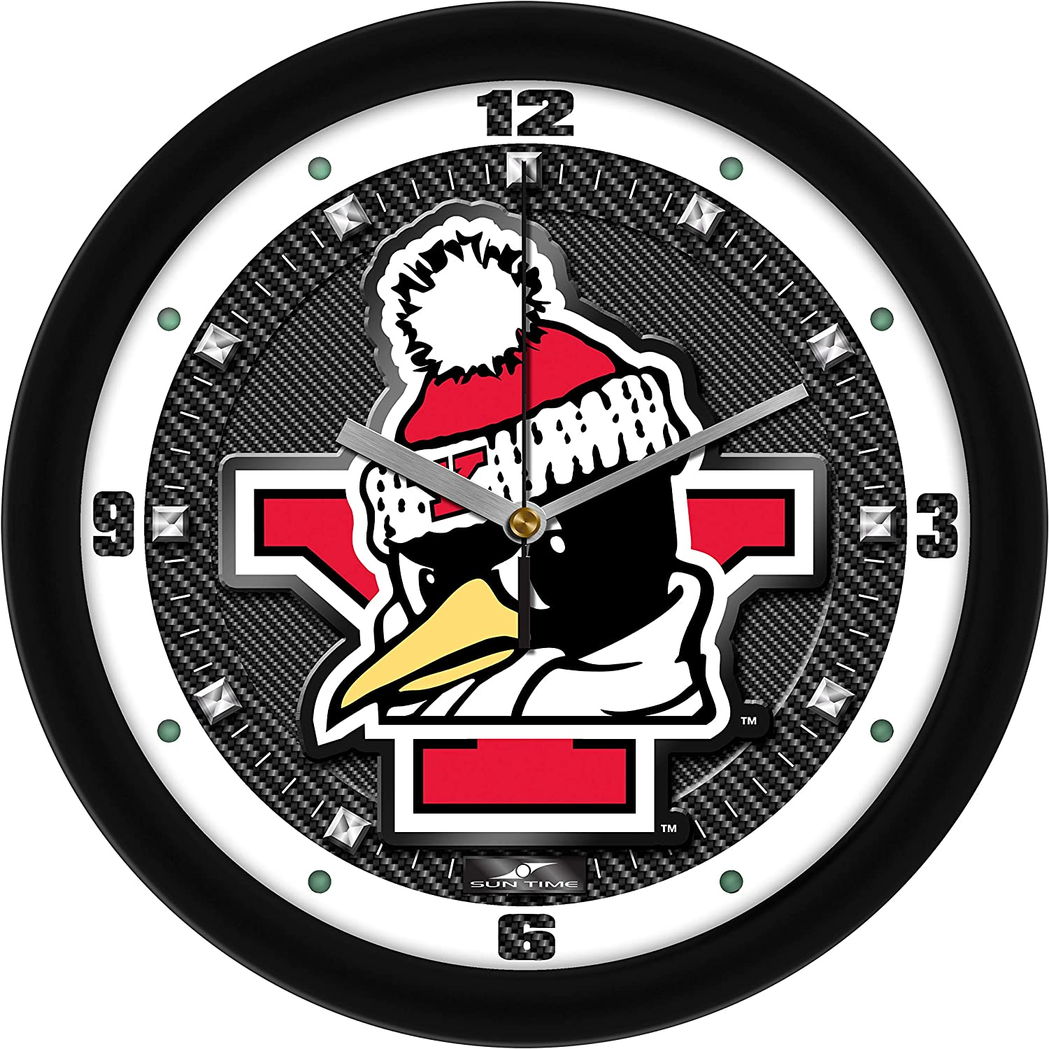 New York Mall Youngstown State Penguins - Carbon Textured Spring new work one after another Wall Clock Fiber