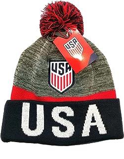 026e3f24c1ed21 USA International Soccer Team Pompom Foldover Beanie