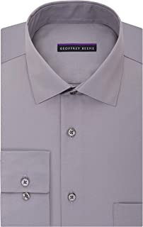 Men's TALL FIT Dress Shirts Sateen Solid (Big and Tall)