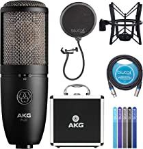 AKG P420 Large-Diaphragm Condenser Microphone for Recording Guitars, Pianos, Woodwinds, Percussion, and String Instruments...