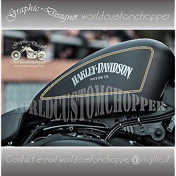 ADESIVI DECAL STICKERS SCACCHIERA N/°1 HARLEY DAVIDSON X SERBATOIO MOTO CUSTOM