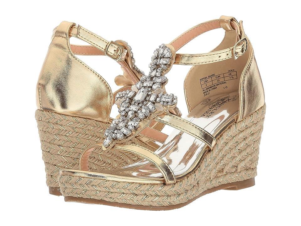 Badgley Mischka Kids Sophia Barre (Little Kid/Big Kid) (Gold) Girls Shoes