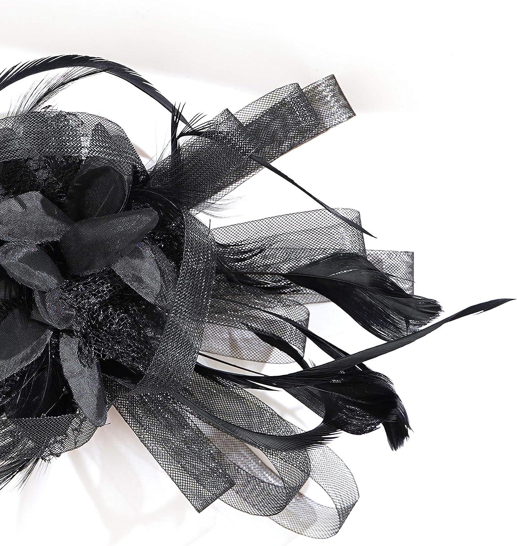 Fascinators for Women Kentucky Derby Hat Tea Party Headband Cocktail Hair Clip
