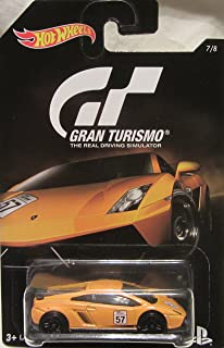 Hot Wheels 2016 Gran Turismo Lamborghini Gallardo Model LP 570-4 Superleggera 7/8, Orange