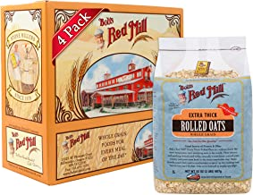 Bob's Red Mill Extra Thick Rolled Oats, 32 Ounce (Pack of 4)