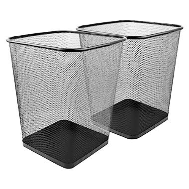 Greenco Mesh Wastebasket, Square, 6 Gallon, (2 Pack)