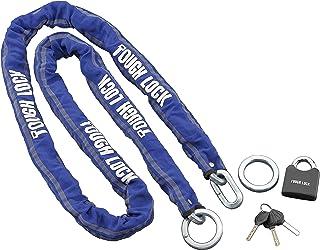 ヤマハ(YAMAHA) バイクロック TOUGH LOCK(タフロック) YL-01 チェーン+パッドロック 2.5m ブルー Q5K-YSK-107-T01