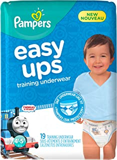 Pampers Easy Ups Training Underwear Boys Size 4T-5T (Size 6), 19 Count