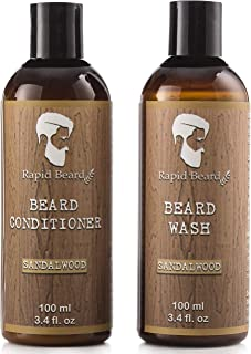 Beard Shampoo and Beard Conditioner Wash & Growth kit for Men Care - Softener & Moisturizer for Hydrating, Cleansing and R...
