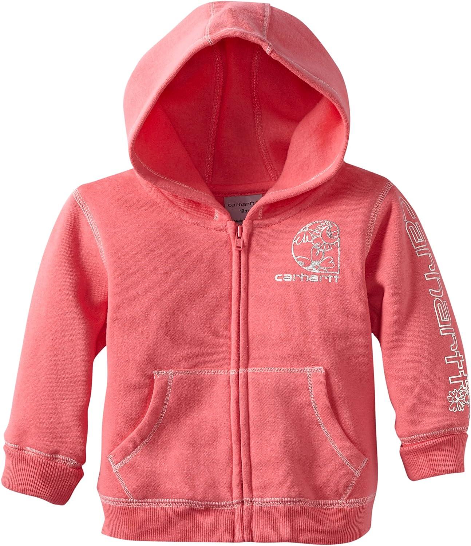 Carhartt Baby Girls Toddler Cozy Fleece Hooded Jacket