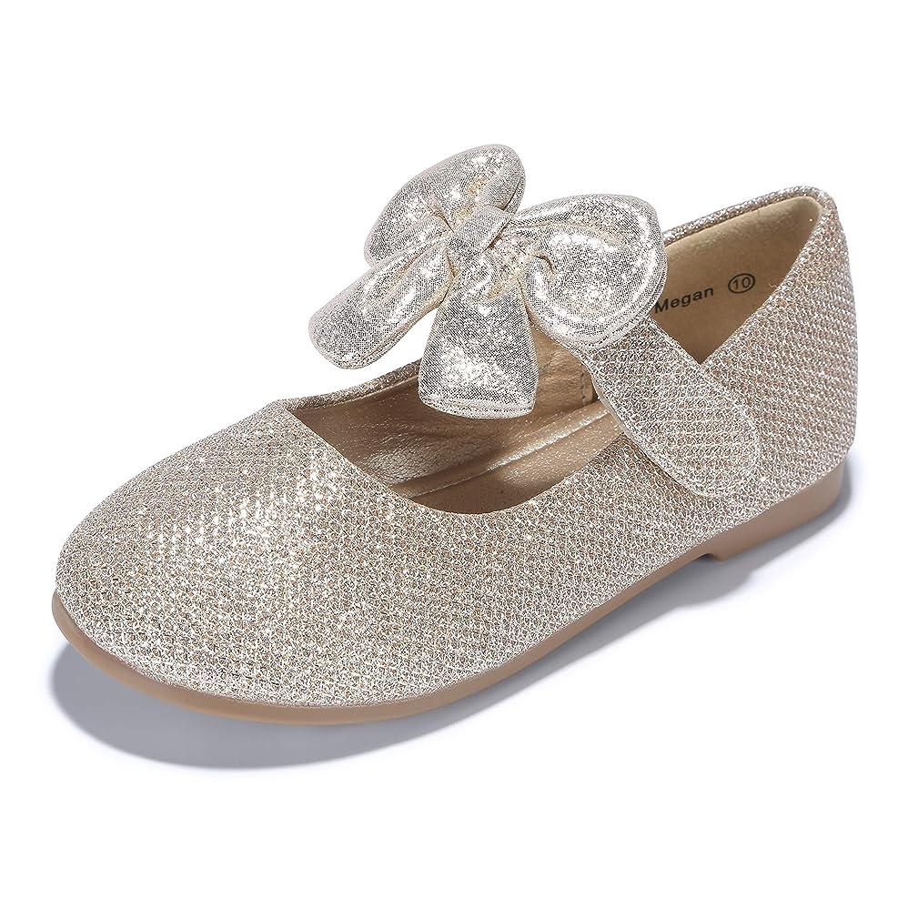 PANDANINJIA Toddler/Little Kid Megan Flower Girl Dress Shoes School Wedding Party Mary Jane Ballet Flats