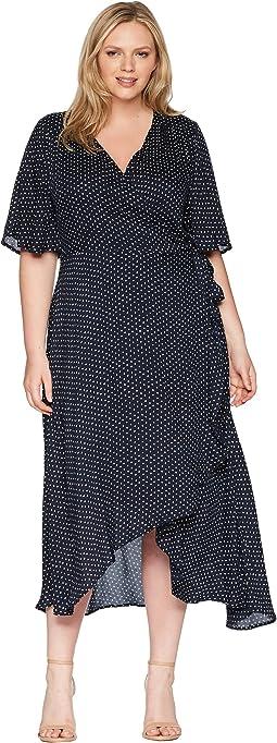 B Collection by Bobeau Plus Size Orna Wrap Dress