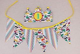 Banner per il compleanno dei bambini e decorazione della corona di compleanno