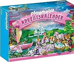 PLAYMOBIL Adventskalender 70323 Königliches Picknick im Park mit zahlreichen Figuren, Tieren und Zubehörteilen hinter...