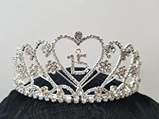 product image for Crystal Tiara Quinceanera (15) Crown by Crystal Avenues
