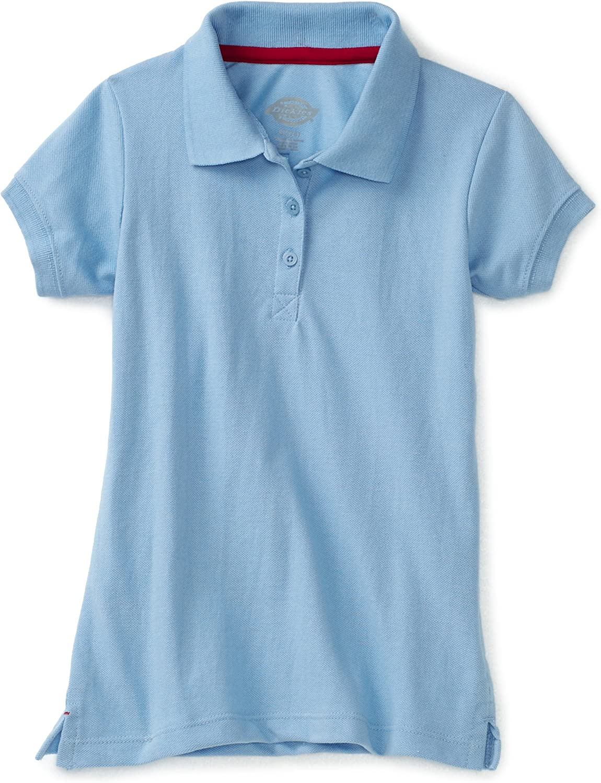 Dickies Girls' Short Sleeve Pique Polo Shirt: School Uniforms For Girls: Clothing