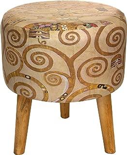 ORIENTAL Furniture Klimt Tree of Life Stool