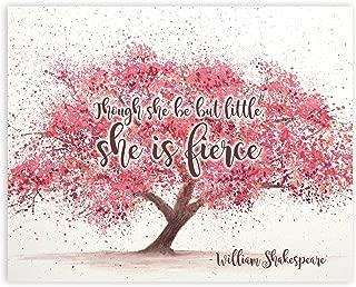 Though She Be But Little She Is Fierce, Shakespeare Wall Art, 8x10
