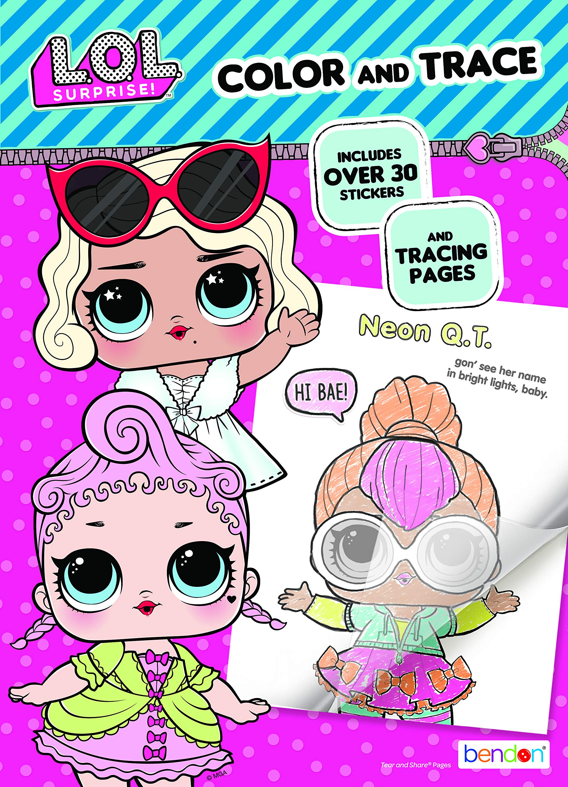 80PG Coloring Book-1 Pc L.O.L Surprise Multicolor LOL