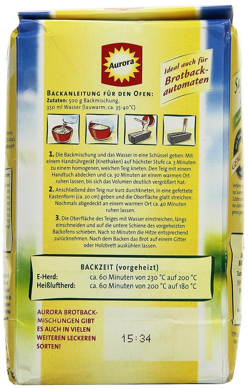 Aurora Saftkornbrot Brotbackmischung,20er Pack 20 x 20 g  Amazon ...