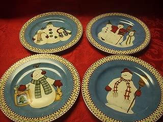 Debbie Mumm Snowman Plates Set of 4