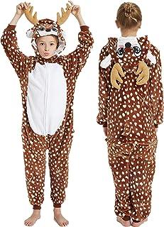 Hawiton Kids Onesies Fleece Onesie Jumpsuit for Girls Boys Supersoft Pyjamas 2-10 Years