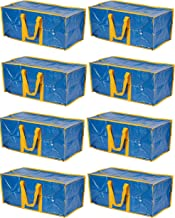 Klickpick Home Heavy Duty Reusable Extra Large Storage Bags -Pack of 8,Laundry Bag Shopping Moving Totes Bags Underbed Sto...