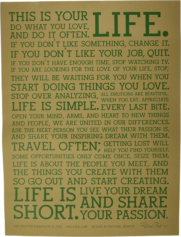 Holstee Manifesto Poster, 18 by 24 , Terra