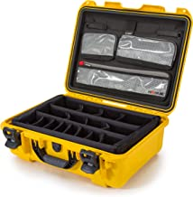 Nanuk 930 Waterproof Hard Case with Lid Organizer and Padded Divider - Yellow