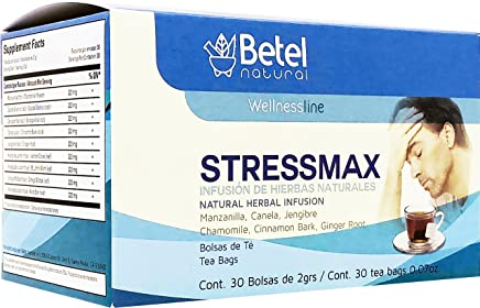 Stressmax Tea by Betel Natural - Anxiety and Stress Relieving - 30 Tea Bags