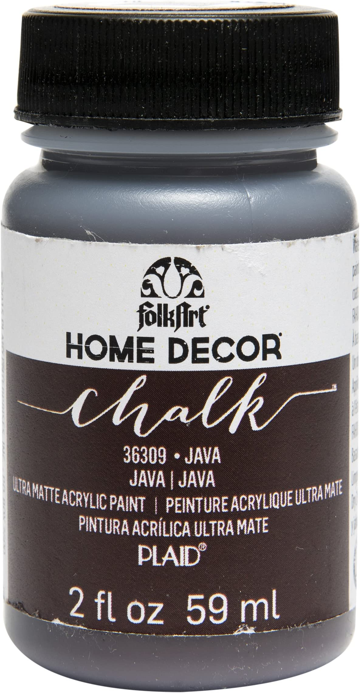 FolkArt 36309 Home Decor Chalk Furniture & Craft Paint in Assorted Colors, 2 ounce, Java