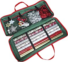 Christmas Gift Wrap Fabric Storage Bag (82 x 34 x 13 cm) for Paper, Tags & Bows