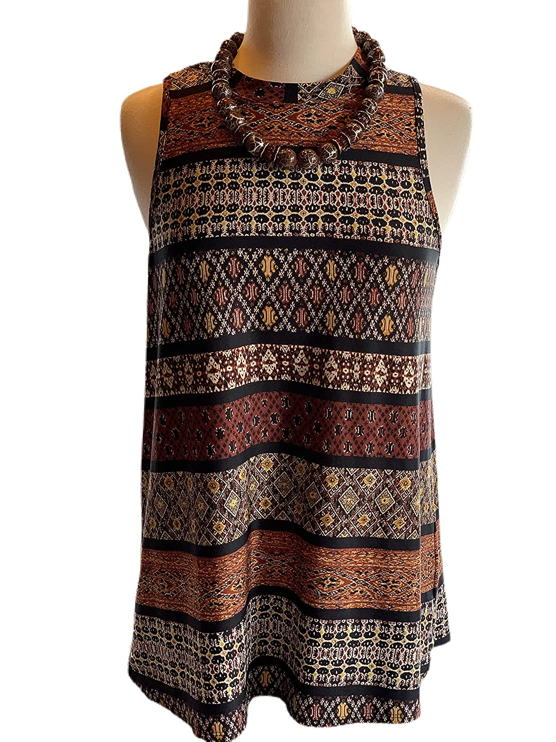 Custom Coutre M Eartone boho Ranking TOP20 tunic nec beaded crackle brwon Limited time sale with