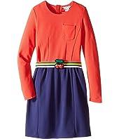 Little Marc Jacobs - Milano Block Colors Dress with Cherry Detail Belt (Little Kids/Big Kids)