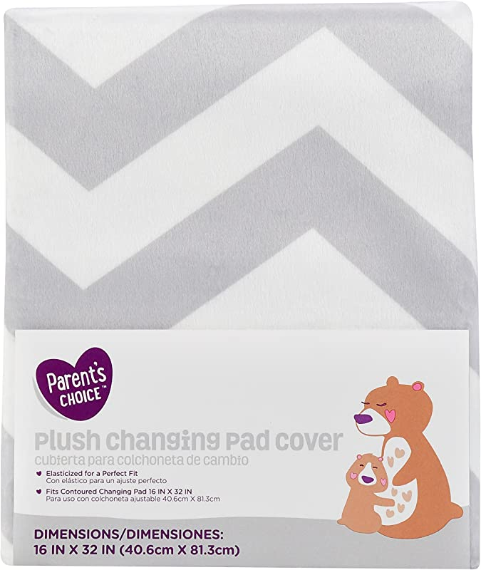 Parent S Choice Changing Pad Cover Grey Chevron