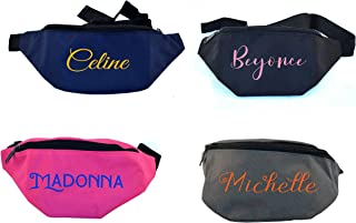 Personalized Custom Design Monogrammed Fanny Pack Travel Pouch Waist Pack Money Belt
