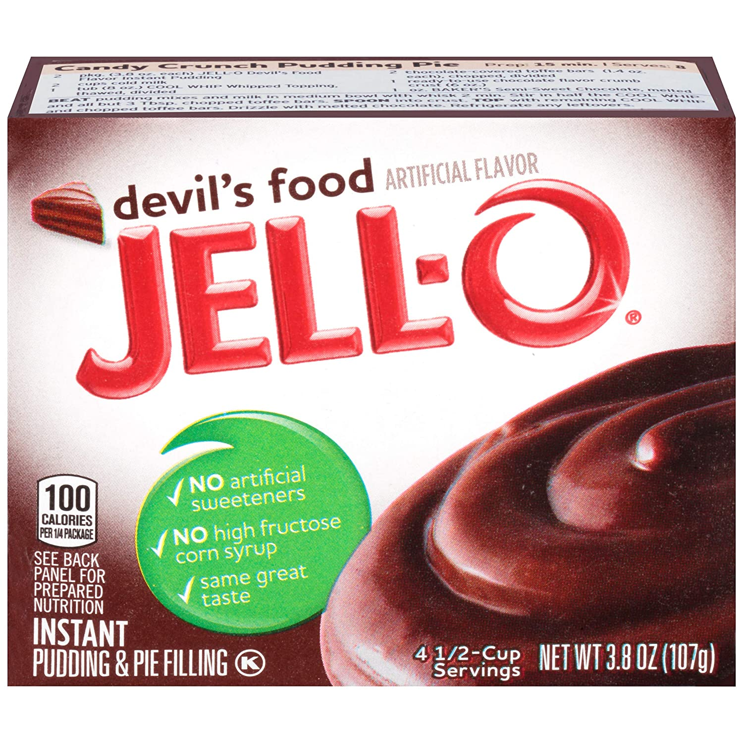 JELL-O Instant Devil's Food Pudding  Pie Filling (3.8 oz Boxes,