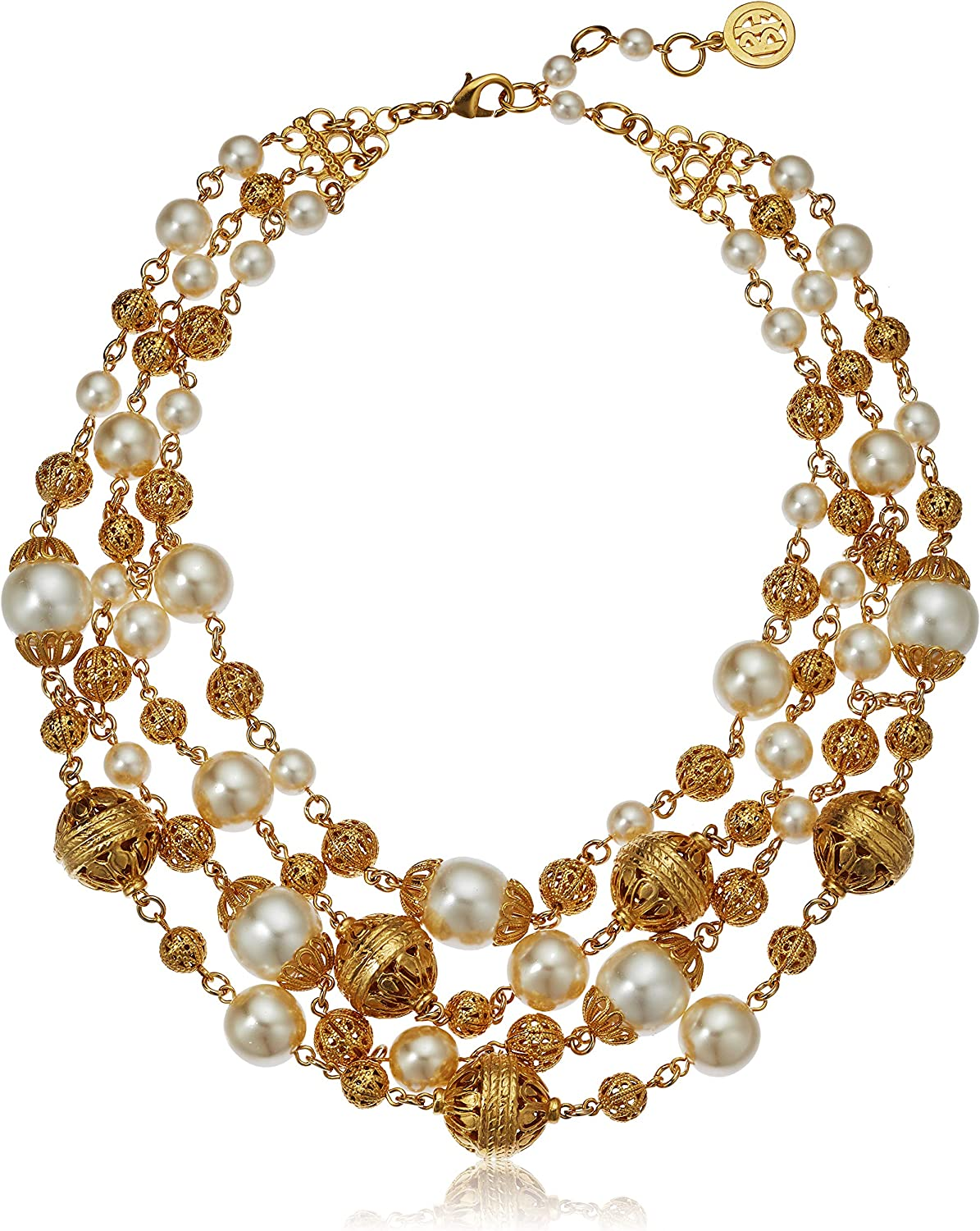 Ben-Amun Jewelry Gold Ball and Pearl