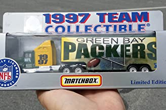 Matchbox 1997 GREEN BAY PACKERS NFL FOOTBALL Tractor Trailer Truck in 1:87 Scale Diecast