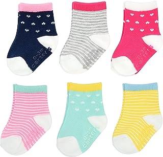 Carter's Baby Girls - Calcetines con pinzas (6 unidades)