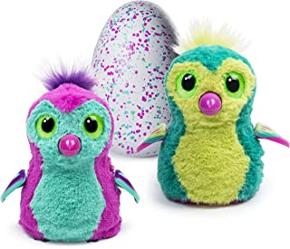 Hatchimals Hatching Egg Plush Interactive Creature, Penguala, Pink or Teal Mystery Egg