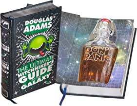 Flask Hollow Book - The Ultimate Hitchhiker's Guide to the Galaxy by Douglas Adams (Leather-bound) (Magnetic Closure)