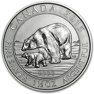 2015 CA Canada 1.5 oz Silver $8 Polar Bear & Cub BU Silver Brilliant Uncirculated