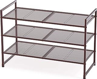 Sponsored Ad - Simple Houseware 3-Tier Stackable Shoes Rack Storage Organizer Shelf, Bronze