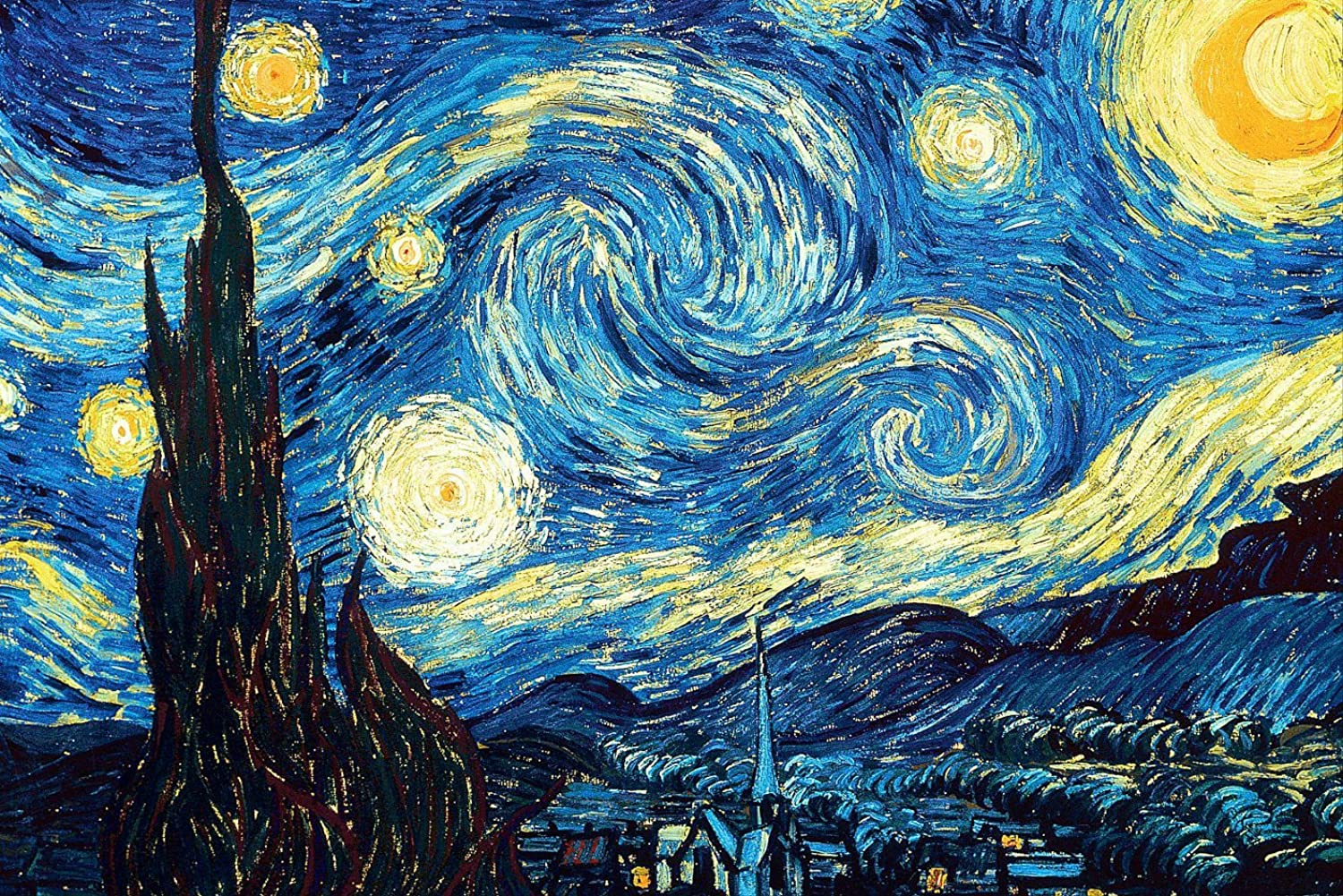 Starry Night by Van Gogh XL 5D Paint with Diamonds Full Kit with Free Premium Diamond Pen  60x40cm Full Canvas Square Drill DIY Diamond Painting Kit Plus Full Toolkit