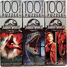 Jurassic World Fallen Kingdom Bundle Set of 3 Jigsaw Puzzles (100 Pieces each) Dinosaur Movie Chris Pratt Universal Studios Jurassic Park