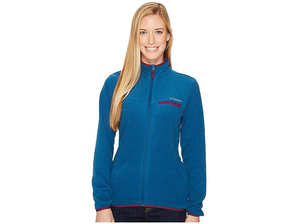 Columbia Mountain Crest Full Zip (Phoenix Blue/Dark Raspberry) Women